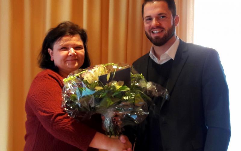 Manuela Wenzel, Heimleiterin des Altenpflegeheims St. Elisabeth Harsum, bedankte sich herzlich bei Gebietsbürgermeister Marcel Litfin